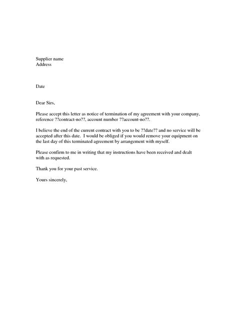 sle letter of agreement template landscape contract cancellation letter 28 images sle