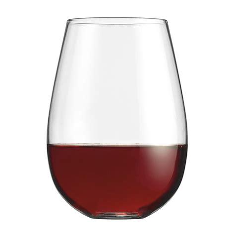 stemless wine glasses cuisinart stemless wine glasses set of 4 cg s4r