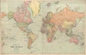 vintage map world map printable digital 1922 vintage world map