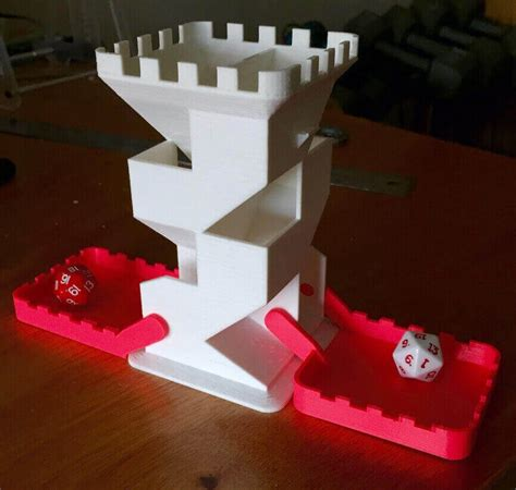 printable dice tower 3d print a diy dice tower for rpg or tabletop games all3dp