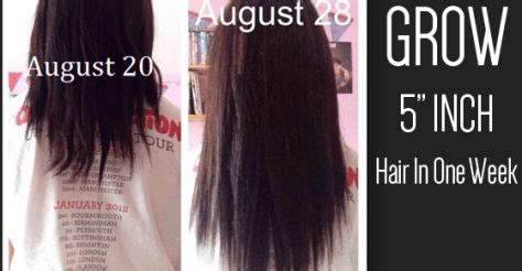 how to grow your hair 3 4 inches in a week pinterest the world s catalog of ideas
