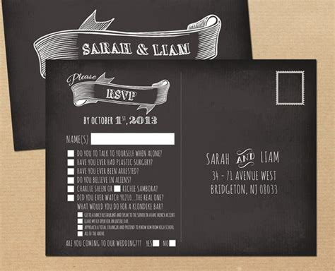 Card Ideas by How To Use Rsvp With 20 Awesome Wedding Guest Reply Card