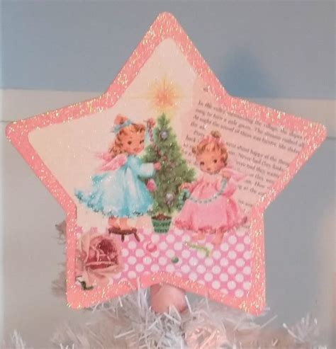 shabby chic tree toppers shabby pink retro kitsch tree topper