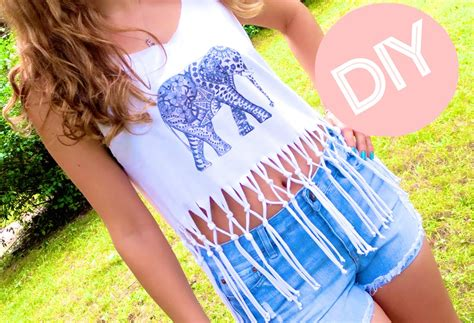 diy clothes fringe crop top print your own t shirt