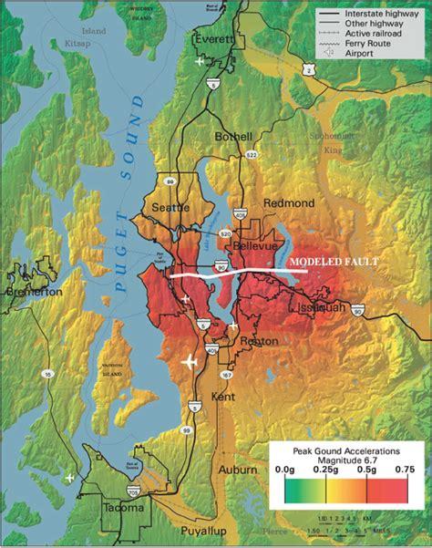 seattle earthquake map 3 elements of the roadmap national earthquake resilience