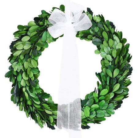 10 inch artificial boxwood wreaths preserved boxwood wreath 10 inch real leaves green wreath with white silk ribbon for front door