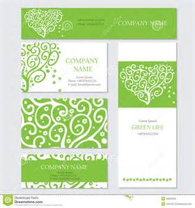 z card template set of business or invitation cards templates stock