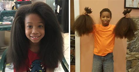 6 year old boy gets haircut jarrettsville maryland this 8 year old boy spent 2 years growing his hair to make