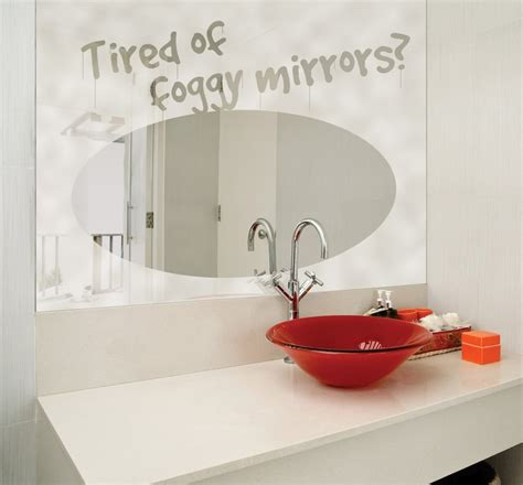 prevent bathroom mirror from getting fogging up how