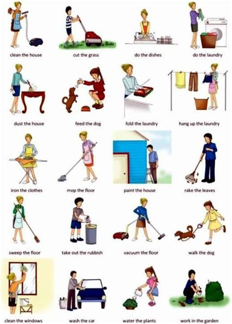 home chores click on housework chores
