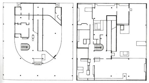 villa savoye floor plans plans villa savoye le corbusier plan drawings