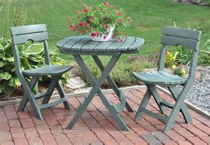 Bistro Patio Tables 3 Bistro Set Outdoor Patio Furniture Folding Table And Chairs Garden Resin Ebay
