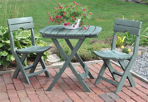3 Piece Bistro Set Outdoor Patio Furniture Folding Table