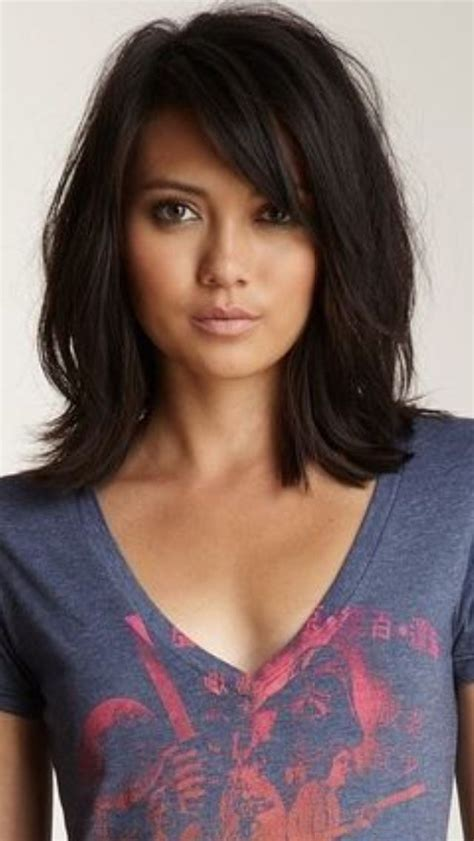 layered lob hairstyles layered lob haircut with bangs www pixshark com images