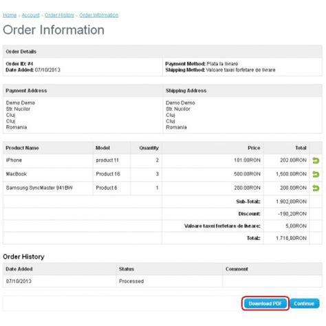 Opencart Custom Invoice Template Docx Opencart Invoice Template
