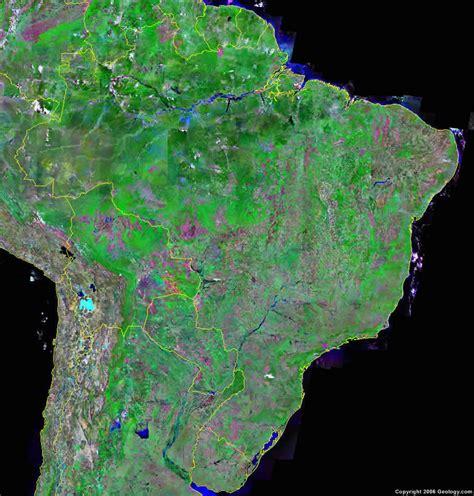 satellite map of brazil brazil map and brazil satellite images