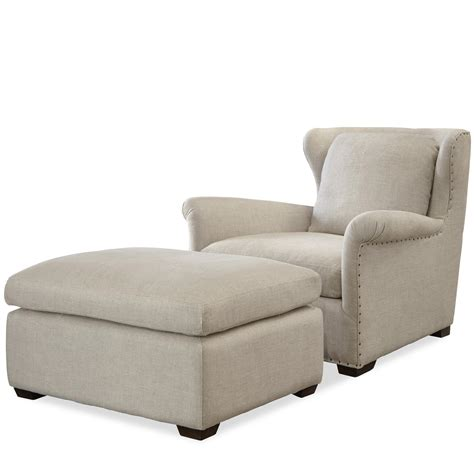 Chair Ottoman Set Universal Transitional Chair And Ottoman Set With Block Olinde S Furniture Chair