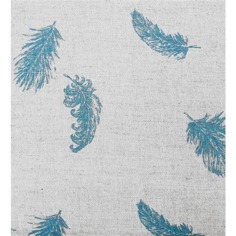 Linen Ruby Bulu Feather 1 feathers marine blue patterned linen mix oeko tex fabric