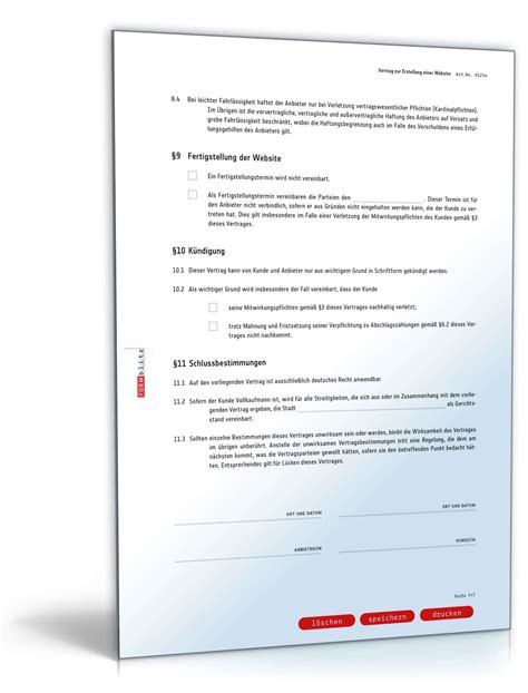 Design Pflichtenheft Vorlage website erstellungsvertrag muster vorlage zum