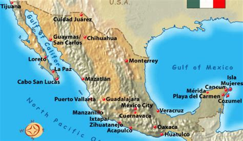 map of mexico vacation spots acapulco map quotes
