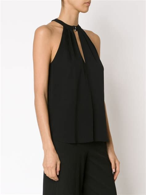 Top Neck Black a l c halterneck top in black lyst