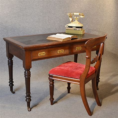 antique study table antique desk leather top mahogany