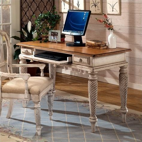 white antique desks hillsdale wilshire wood writing desk in antique white 4508d