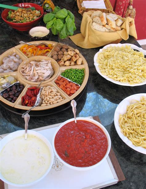 pasta bar toppings how to host your own pasta bar big red kitchen a