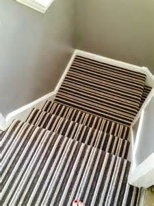 Stairs Striped Carpet by Stripe Landing And Stair Carpet Home Pinterest