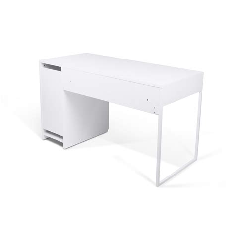 prado home office desk white lacquer legs tema home