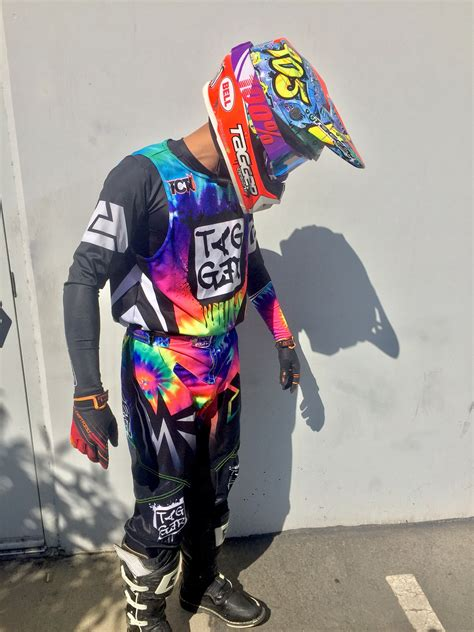motocross gear store tagger designs quot tye dye quot motocross gear set custom