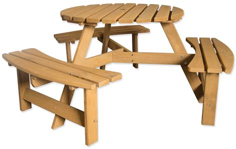 round wooden garden table bench large round wooden bench 6 seater pub garden park