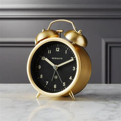 gold alarm clock cb2