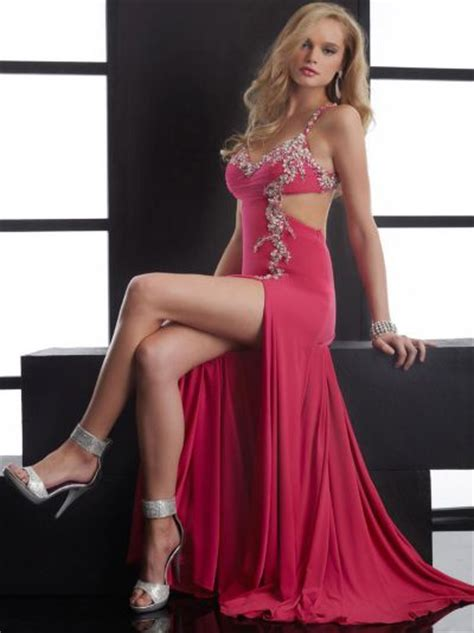 Jasz Sexy Prom Dress with Bold Side Cutout 4523: French Novelty