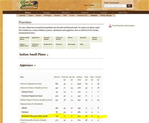 1 olive garden breadstick calories olive garden menu nutrition pdf garden ftempo