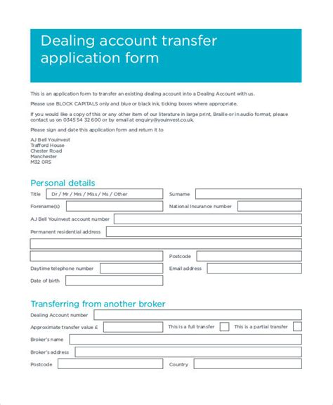 Credit Transfer Application Form Open Free Application Forms