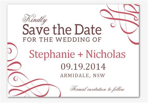 save the date templates word diy printable ms word wedding save the date template by
