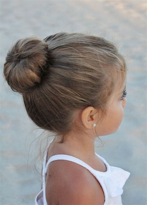 girl hairstyles bun sock bun for the little ones pinterest sock buns and