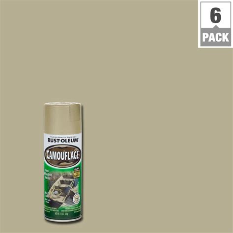 rust oleum specialty 12 oz sand camouflage spray paint 6 pack 263653 the home depot