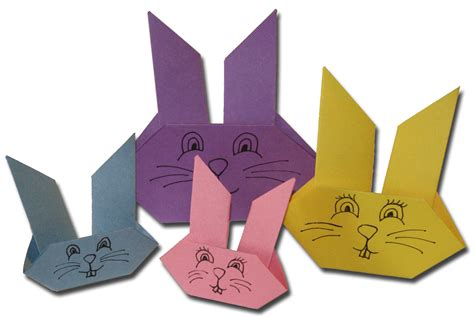 Easter Origami Bunny - paper crafts for children 187 easter
