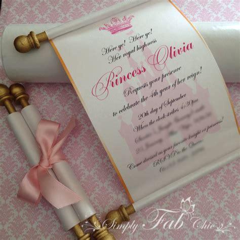 Scroll Invitations by Royal Disney Princess Scroll Invitation Birthday Wedding