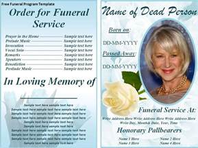 Free Funeral Program Template by Free Funeral Program Archives Templates