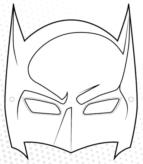 free coloring pages of batman mask