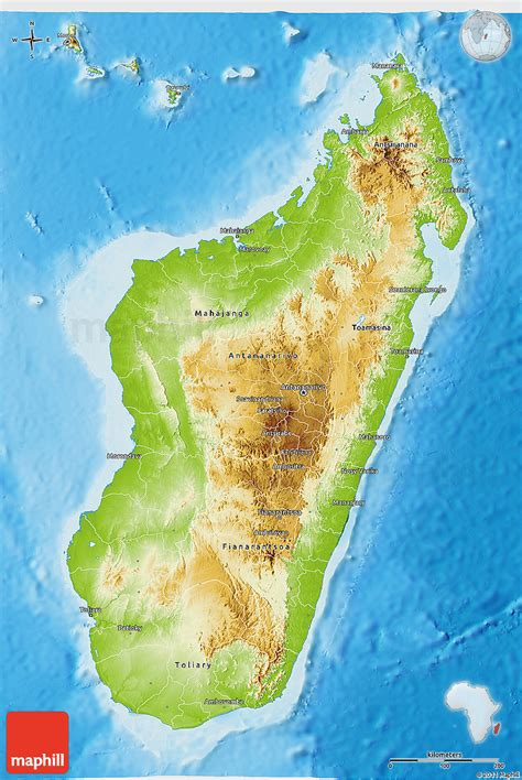 physical map of madagascar physical 3d map of madagascar