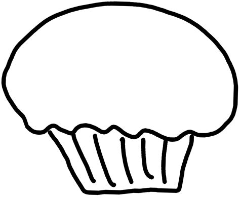 clipart outline cupcake outline clip clipart best