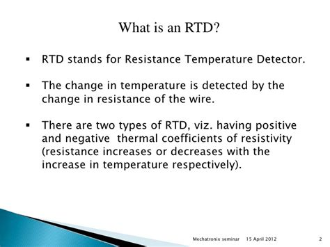 working principle of a resistor rtd and thermocouples