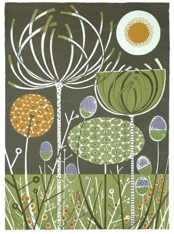 world angie lewin flowers  fabric