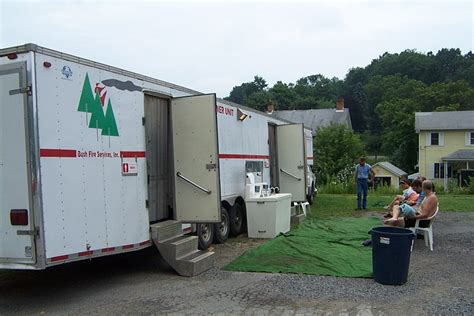 Truck Shower by Pictures From Pa Greenway Sojourn 2005
