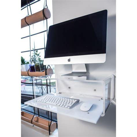 scrivania imac consolle porta pc per imac 21 quot da parete in plexiglass