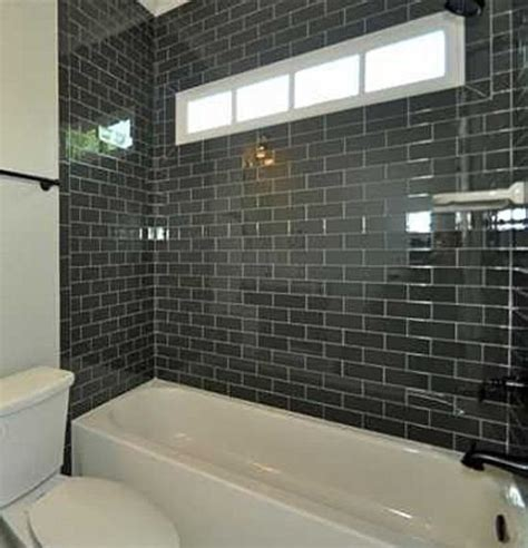black subway tile bathroom black subway tiles tile and black on pinterest
